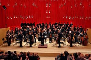 un'orchestra durante un'esibizione