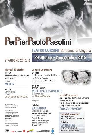 Barberino di Mugello (FI) ricorda Pier Paolo Pasolini
