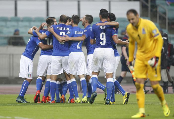 Qualificazioni Euro 2016: Azerbaigian-Italia 1-3, è Europe