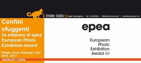 locandina di Confini sfuggenti - terza edizione dell'European Photo Exhibition Award
