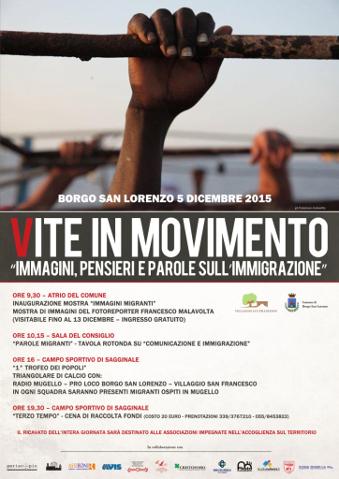 locandina della manifestazione Vite in movimento a Borgo San Lorenzo