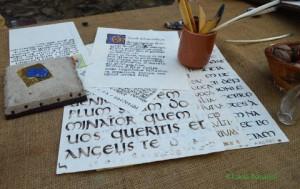 fogli con scritte antiche