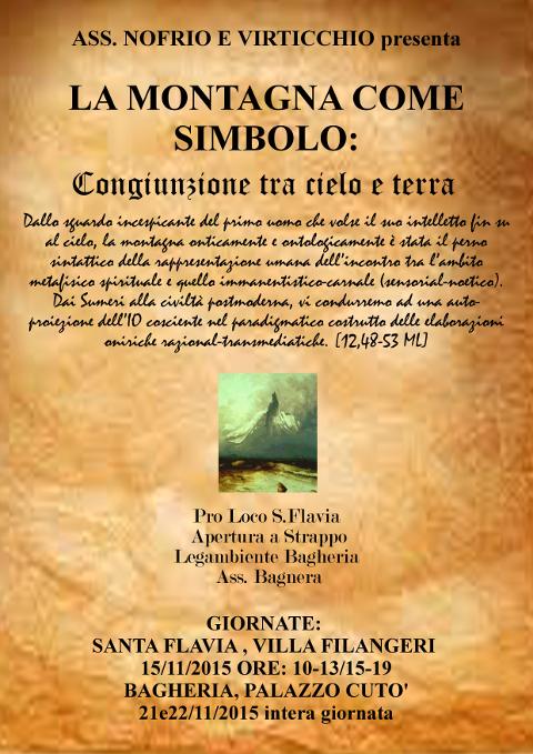 locandina della manifestazione La montagna come simbolo a Bagheria