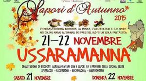 locandina della manifestazione sapori d'autunno a ussaramanna