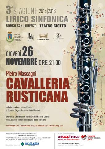 manifesto della Cavalleria rusticana al Teatro Giotto di Borgo San Lorenzo