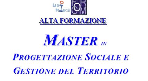 Master in Progettazione Sociale e Gestione del Territorio