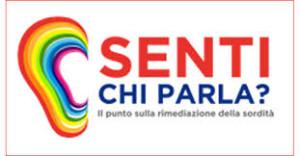 locandina Senti chi parla -evento su sordità a Torino