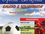 locandina del torneo di calcio a 5 Special Christmas a Macomer