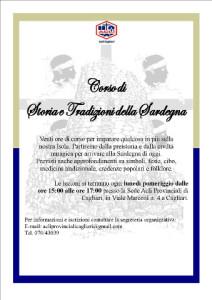 locandina di un corso di storia della Sardegna organizzato dalle Acli di Cagliari