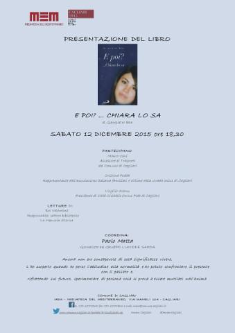 """Il libro """"E poi? … Chiara lo sa"""" di Giampietro Ibba alla MEM di Cagliari"""
