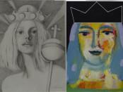 due regine dipinte da Ibba e Pisano