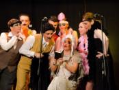 artisti dell'Accademia Canto Moderno Siena con costumi da operetta