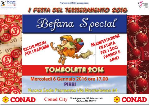 Festa della Befana a Cagliari con la Prometeo AITF Onlus