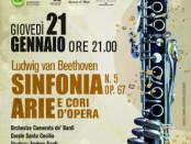 locandina di un Concerto Lirico-Sinfonico a Borgo San Lorenzo