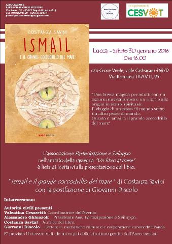 """""""Ismail e il grande Coccodrillo del mare"""": presentazione a Lucca"""