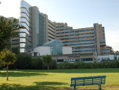 facciata dell'ospedale Brotzu di Cagliari