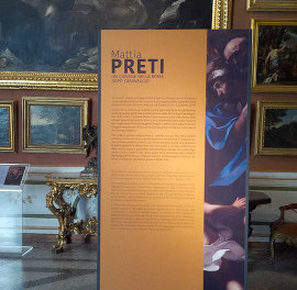 locandina della mostra a Roma con opere di Mattia Preti
