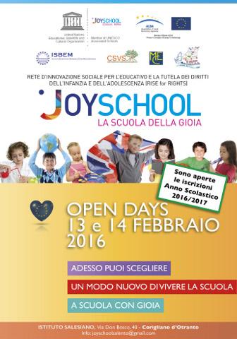 manifesto del progetto joyschool 2016