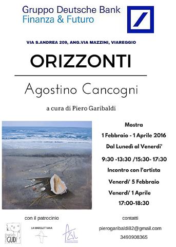 """""""Orizzonti"""": mostra di Agostino Cancogni a Viareggio (LU)"""