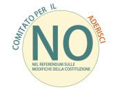 locandina di un comitato per il no a un referendum