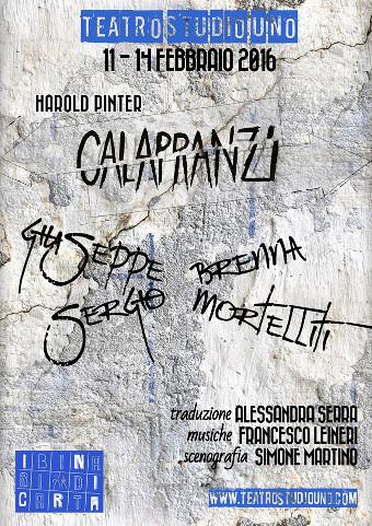 locandina della commedia Calapranzi al Teatro Studio Uno di Roma