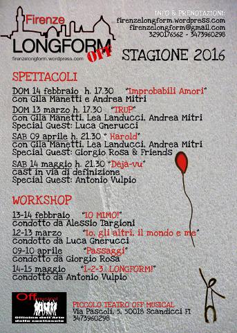 locandina della seconda edizione di #FirenzeLongform