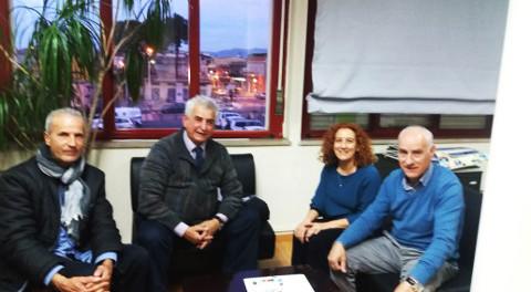 volontari Prometeo con sindaco e assessore di Sestu