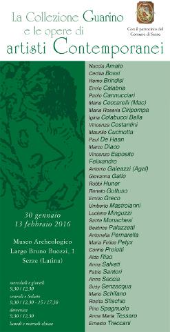 La Collezione Guarino e opere di artisti contemporanei in mostra  a Sezze (LT)