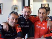 Maico Campilongo, Kristyan D'Angelo e Franco Campilongo con la maglia terùn