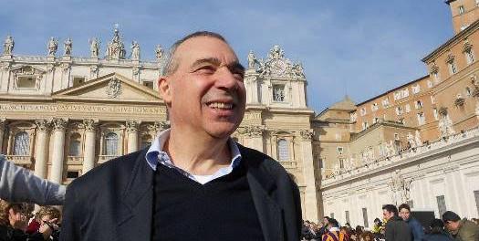 Carmelo Musumeci in Piazza San Pietro