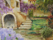 quadro di Francesca Vena intitolato La Bouganville