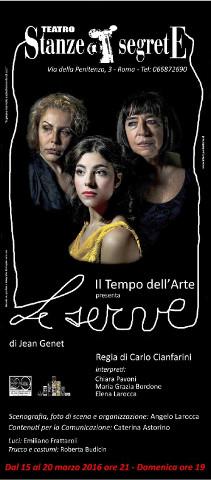 locandina dello spettacolo teatrale Le serve a Roma