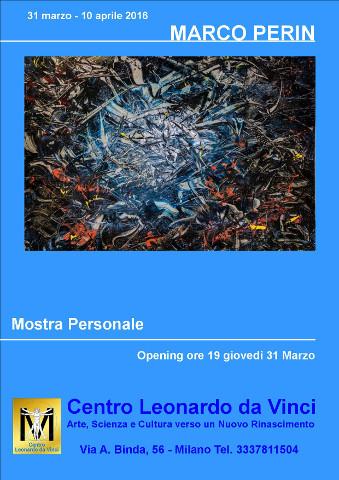 """""""Evoluzione emotiva"""", personale di Marco Perin a Milano"""