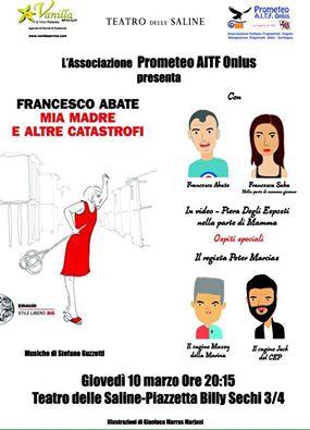 """""""Mia madre e altre catastrofi"""" di Francesco Abate finalmente a Cagliari"""