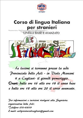 Corsi di italiano per stranieri a Cagliari