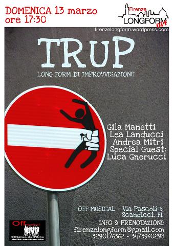 locandina dello spettacolo teatrale TRUP a Scandicci