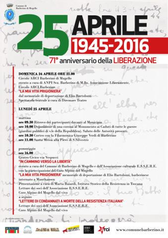 Celebrazioni per il 25 aprile a Barberino di Mugello