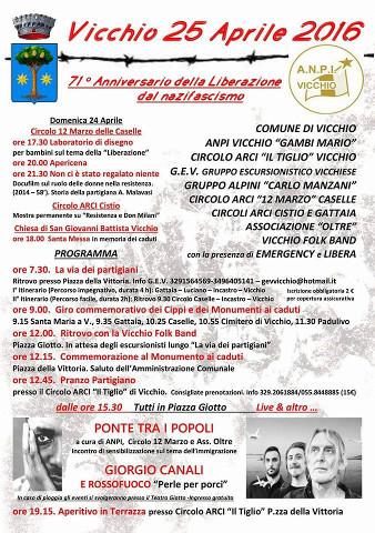 Tutte le iniziative del 25 Aprile a Vicchio