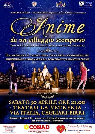 """Lo spettacolo teatrale """"Anime da un villaggio scomparso"""" a Cagliari"""
