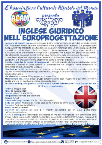 Corso di inglese giuridico per europrogettazione a Cagliari