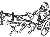 uomo su un calesse