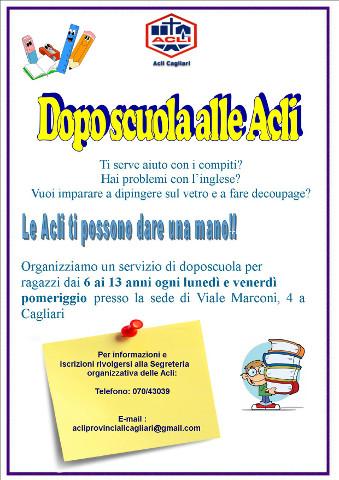 doposcuola delle Acli Cagliari