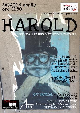 "A Scandicci (FI) per FirenzeLongform arriva ""Harold"""