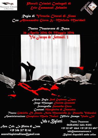 """""""Piccoli Crimini Coniugali"""" al Teatro Trastevere di Roma"""