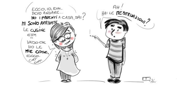 vignetta su mestruazioni