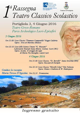 1^ rassegna di Teatro classico scolastico a Portigliola