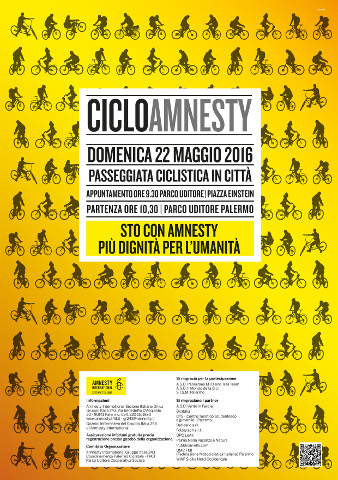 """""""CicloAmnesty 2016"""" a Palermo"""