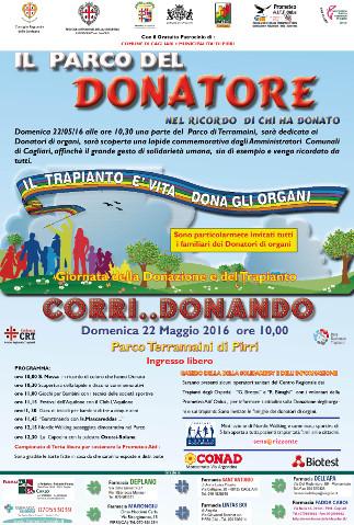 Inaugurazione del Parco del Donatore di organi a Cagliari