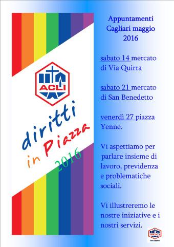 Diritti in piazza: al via la campagna 2016 delle Acli Cagliari