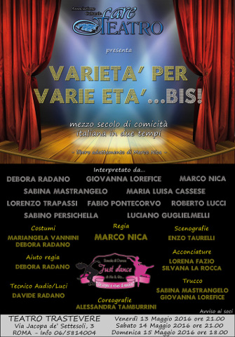 """""""Varietà per varie età… Bis!"""" in scena a Roma"""